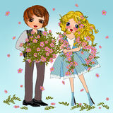 Summer flower couple Stock Photography