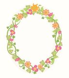 Summer Flower Frame Stock Image