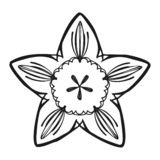 Summer flower icon, simple style stock illustration