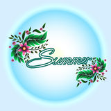 Summer and flower royalty free stock photography