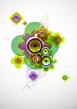 Summer flower  with loudspeaker. Summer flower composition with colorful loudspeaker Stock Image