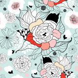 Summer flower pattern Stock Images