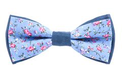 Summer flower print bow tie isolated. On white background Royalty Free Stock Images