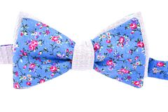 Summer flower print bow tie isolated. On white background Stock Image