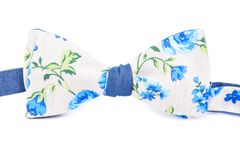 Summer flower print bow tie isolated. On white background Royalty Free Stock Photography