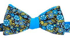 Summer flower print bow tie isolated. On white background Royalty Free Stock Photo