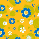 Summer flower seamless pattern. Vector background Royalty Free Stock Image