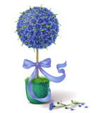 Summer Flower Topiary stock illustration