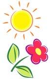 Summer Flower (Vector) Royalty Free Stock Photo