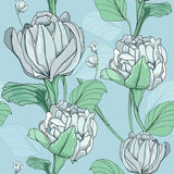 Summer flower. This is the vector illustration of flower in seamless pattern Stock Image