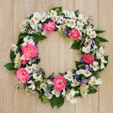 Summer Flower Wreath Stock Photo