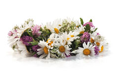 Summer flower wreath Stock Photography