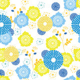 Summer Flowers. Summer Vector Seamless Background with Flowers Royalty Free Stock Image