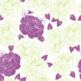 Summer Flowers. Summer Vector Seamless Background with Flowers Stock Photos
