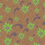 Summer flowers. Cute seamless pattern - summer flowers Royalty Free Stock Photos
