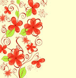 Summer flowers background. For textile design Royalty Free Stock Photo
