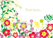 Summer_flowers_background Royalty Free Stock Image