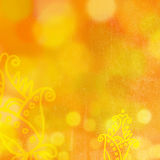 Summer flowers background with bokeh. Orange bokeh abstract yellow background. Summer flowers background Royalty Free Stock Photos