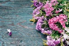 Summer flowers on desk Stock Photos