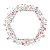 Summer flowers frame vector Royalty Free Stock Image