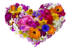Summer flowers heart concept Royalty Free Stock Photography