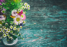 Summer flowers mock up Royalty Free Stock Photo