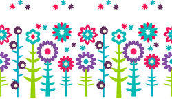 Summer flowers  pattern background Stock Photo