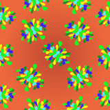 Summer flowers pattern colorful abstract background Stock Photography