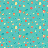 Summer flowers pattern. Summer flowers seamless pattern. Vector texture royalty free illustration