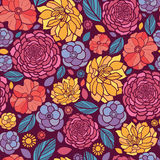 Summer flowers seamless pattern background Royalty Free Stock Photo