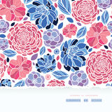 Summer flowers torn paper horizontal seamless Royalty Free Stock Image