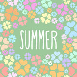 Summer flowers.  Vector background for flyers. Royalty Free Stock Photos