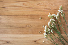Summer Flowers on wood texture background with copyspace Royalty Free Stock Photo