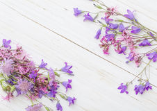 Summer flowers on  wooden background Stock Photo