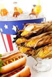 Summer: Focus on Grilled Corn on the Cob Royalty Free Stock Photo