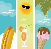 Summer food banners Royalty Free Stock Photos