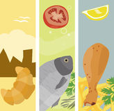 Summer food banners Stock Photo