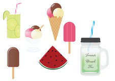 Summer food and drinks Stock Photography