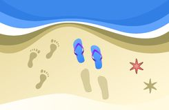 Summer footprints. Images and sensations of a seaside summer Royalty Free Stock Images