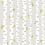 Summer forest. Seamless pattern with summer trees Royalty Free Stock Image