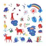 Summer color doodle2 stock illustration