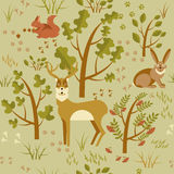 Summer forest seamless pattern royalty free stock photo