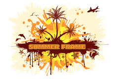 Summer frame Royalty Free Stock Photos