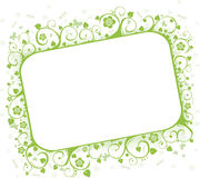 Summer frame. Green framework with butterflies and flowers, a decorative pattern Stock Photo