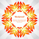 Summer frame of colorful abstract leaves Royalty Free Stock Photography