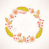 Summer frame with flowers berries Royalty Free Stock Photography