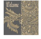 Seamless pattern background of gold color in the style of baroque. Damask wallpaper royalty free illustration