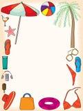 Summer Frame. Illustration of summer frame with sands background Stock Images