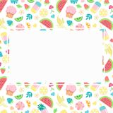 Summer frame poster template clip art Royalty Free Stock Image