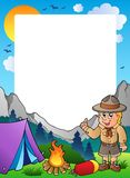 Summer frame with scout theme 1. Illustration Royalty Free Stock Photo